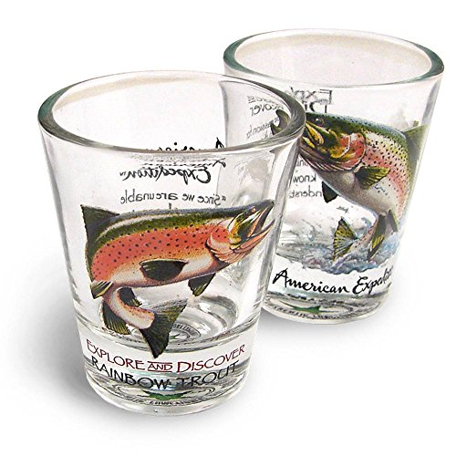 American Expedition Shot Glass Set - Rainbow Trout