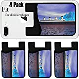 Liili Phone Card holder sleeve/wallet for iPhone Samsung Android and all smartphones with removable microfiber screen cleaner Silicone card Caddy(4 Pack) titanic and iceberg IMAGE ID 13194518