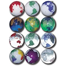Earth Marbles Complete Set in Assorted Colors, 12 In A Pouch, 1 Inch Diameter