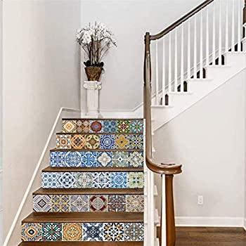 24 Set Mexican Stairs tile Stickers wall decals home decor Kitchen decal NEW C