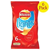 Crisps Walkers Lights Simply Salted 6X6X24G