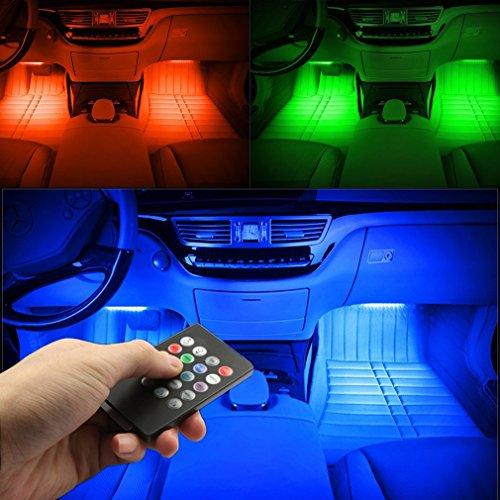 car led strip lights surlight 4pcs 48 led multicolor music import it all. Black Bedroom Furniture Sets. Home Design Ideas