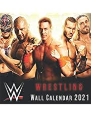 Wrestling 2021 Wall Calendar: 12 Month Calendar With Many Colorful Photos. Size 8.5 x 8.5 Inches.