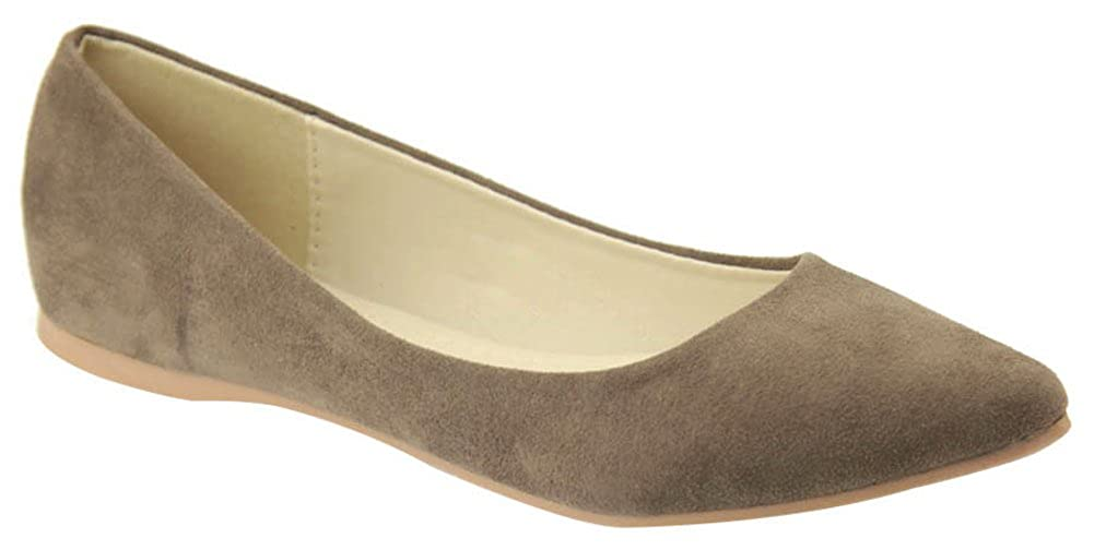 Cambridge Select Womens Classic Closed Pointed Toe Slip-On Ballet Flat