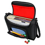 dnd dice masters - USA Gear Dungeons & Dragons Compact Travel Bag for D&D Player's Handbook, Xanathar's Guide, Character Sheets - S7 Pro Universal Gear Case Holds 2 DnD Books, Dice, Tokens, & Small Player Items (Red)
