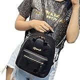DDLBiz Women Girl Rucksack Shoulder Bookbags School Bag Satchel Travel Leather Backpack (Black)