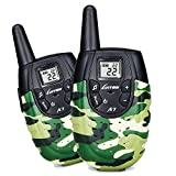 LUITON A7 Walkie Talkies For Kids Toys For Boys And Girls Top Rated Birthday Gifts Outdoor Toys With Rechargeable Battery(Camo 1 Pair)