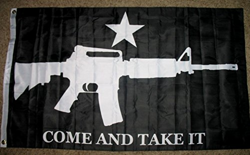 M4 AR-15 Come And Take It Flag 3'x5' Black Double Sided Bann