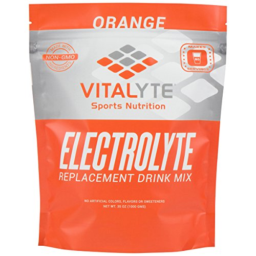 Vitalyte Electrolyte Powder Sports Drink Mix, 80 Servings Per Container, Natural Electrolyte Replacement Supplement for Rapid Hydration & Energy – Orange