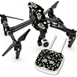 Skin For DJI Inspire 1 Quadcopter Drone – Nighttime Skulls | MightySkins Protective, Durable, and Unique Vinyl Decal wrap cover | Easy To Apply, Remove, and Change Styles | Made in the USA