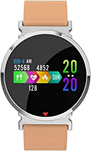 Sports Watch,Winnes Smart Bracelet Fitness Tracker IP67 Waterproof Color Screen Heart Rate Monitor Sleep Monitor with Pedometer for iOS and Android Smart Phones (Orange Silicone Strap)