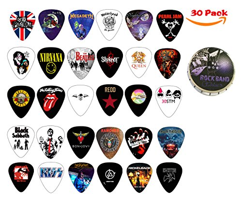 cheerhas 30pcs guitar picks different band collection double side color printing best celluloid. Black Bedroom Furniture Sets. Home Design Ideas