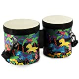 "Tosnail Kids Bongo Drum with Cute Animals Pattern - 5""-6"""