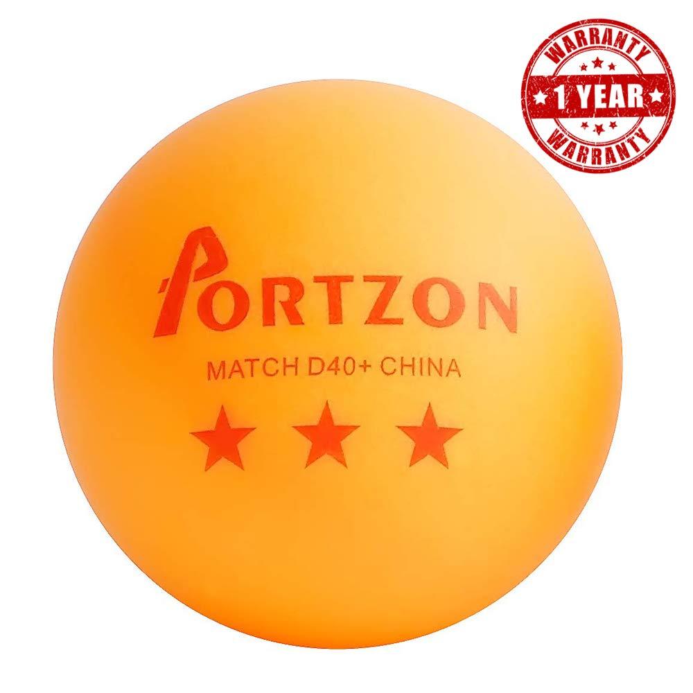 naranja, paquete de 50 Pelotas de ping-pong de 3 estrellas Portzon Unisex Youth