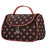 toiletry bag yeiotsy polka dots toiletry organizer travel bag for women coffee brown