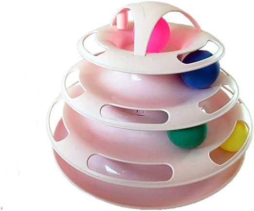 Cherish - Juguete Interactivo para Gato, 4 Capas, Bolas Circulares ...