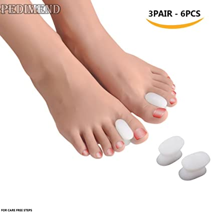 pedimendtm silicona Gel separador de dedos (3Pair) | separador de dedos para juanetes Socorro | Socorro ...