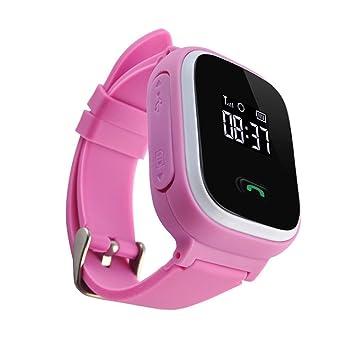 Yatek Reloj GPS para niños Color Rosa, Permite Llamadas ...