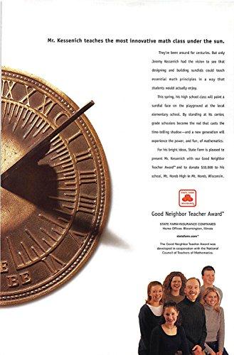 Print Ad 2001 State Farm Insurance Good Neighbor Teacher Award Mr  Kessenich Teaches