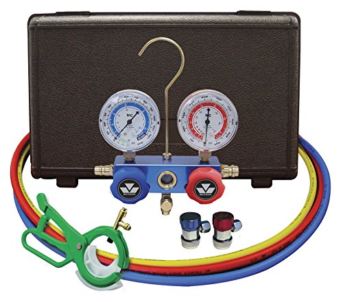 Mastercool (89661-PRO) R134a Manifold Gauge Set with Aluminum Standard Couplers