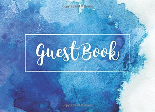 Guest Book: Blue Watercolor (Occasions Guest Books)