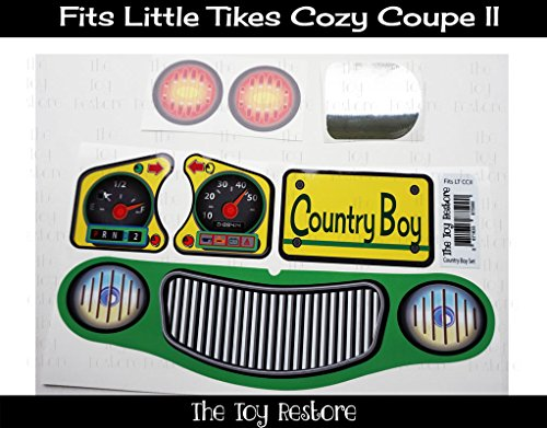 The Toy Restore Replacement Decals fits Little Tikes Cozy Coupe II John Deere Colors