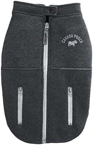 Canada Pooch Rocky Ridge Back-Zip Vest - Grey Melange - 22 (Vest Pooch Canada)