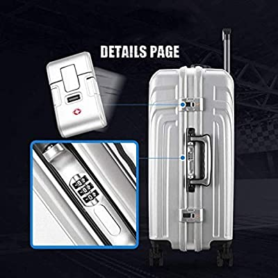 Roller Cases Color : Black, Size : 20 inches/34x25x50CM Bag Luggage Suitcase Aluminum Frame Trolley Case Universal Wheel Suitcase 20 Inch Tow Box Hand Luggage suitcases Laptop Accessories