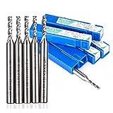 Best Garden Tools 5pcs 3 Flutes End Mill Cutter 6mm Shank HSS & Aluminum Extended Milling Tool CNC Router Bit