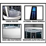 Bagno-Italia-Box-idromassaggio-semicircolare-150×150-cabina-con-vasca-bluetooth-sauna-cromoterapia-I