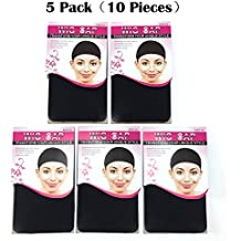 BQ 10 Pieces Dome Wig Caps for Women Making Wigs, 5 Pack(2 Pieces per Pack), Black Color