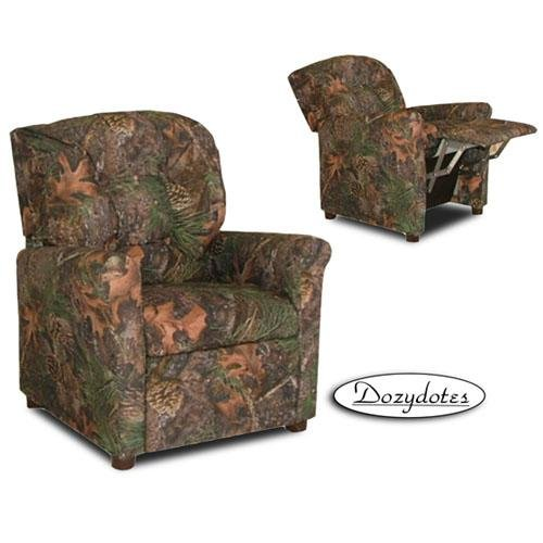 Camouflage 4 Button Child Recliner Chair