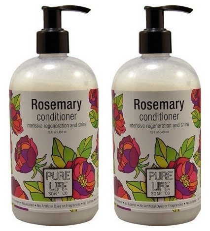 - Pure Life Soap Co. Rosemary Conditioner (Pack of 2) With Rosemary, Sesame Oil, Oat Protein, Wheat Protein, Aloe Vera, Panthenol and Glucono Delta Lactone, 15 fl. oz. each