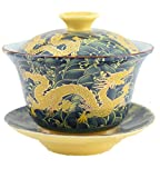 The standard size Gaiwan to brew Oolong, black,green,white tea sometimes flower buds tea as well. This type of Gaiwan is not thick at the body edge, so it is very easy to get hold of Gaiwan to pour out tea liquid and wont hurt your hands. Thr...