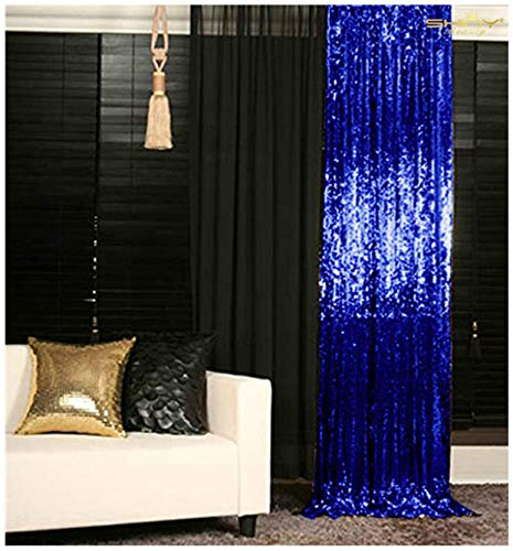 - Pack of 2 Backdrop Curtain Royal Blue 2FTx7FT Photo Backdrop Sequins Backdrop for Pictures Y1023