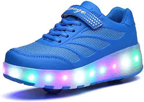 9f4447ed6 Clothing, Shoes & Jewelry WAWEN 11 Colors LED Sneakers Light Up Flashing  Rechargeable Casual High Top ...