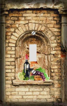 Wine Arch with Grapes Decorative Switchplate Cover