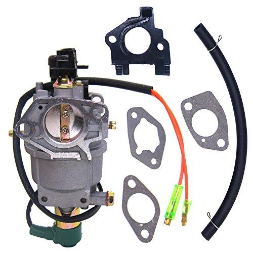(NIMTEK New Carburetor with Solenoid insulator plate for Honda Gx390 188F Engine 13hp Generator Parts Carb)