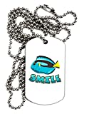 TooLoud Blue Tang Fish - Smile Adult Dog Tag Chain Necklace - 12 Pieces