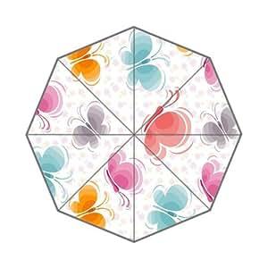 Fondos De Pantalla Mariposas Vector Pattern Custom Foldable Rain Umbrella Wind Resistant Windproof Floding Travel Umbrella