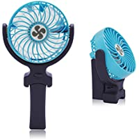 Portable Fan,Awakelion Handy Fan Personal Handheld Fan Mini USB Fan Rechargeable Foldable Collapsible Battery / USB Operated Cooling Fan for Home and Office, Travel (Blue)