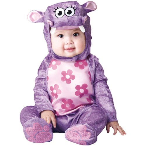 InCharacter Baby Girl's Huggable Hippo Costume, Purple, Small by Fun World -