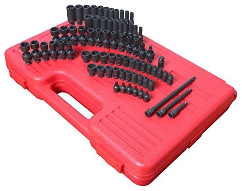 "Sunex 74 Piece 1/4"" Drive Master SAE and Metric Socket Set"