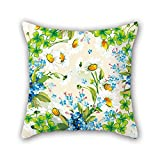 PILLO 20 x 20 inches / 50 by 50 cm flower cushion cases,double sides is fit for him,drawing room,monther,car,floor,deck chair