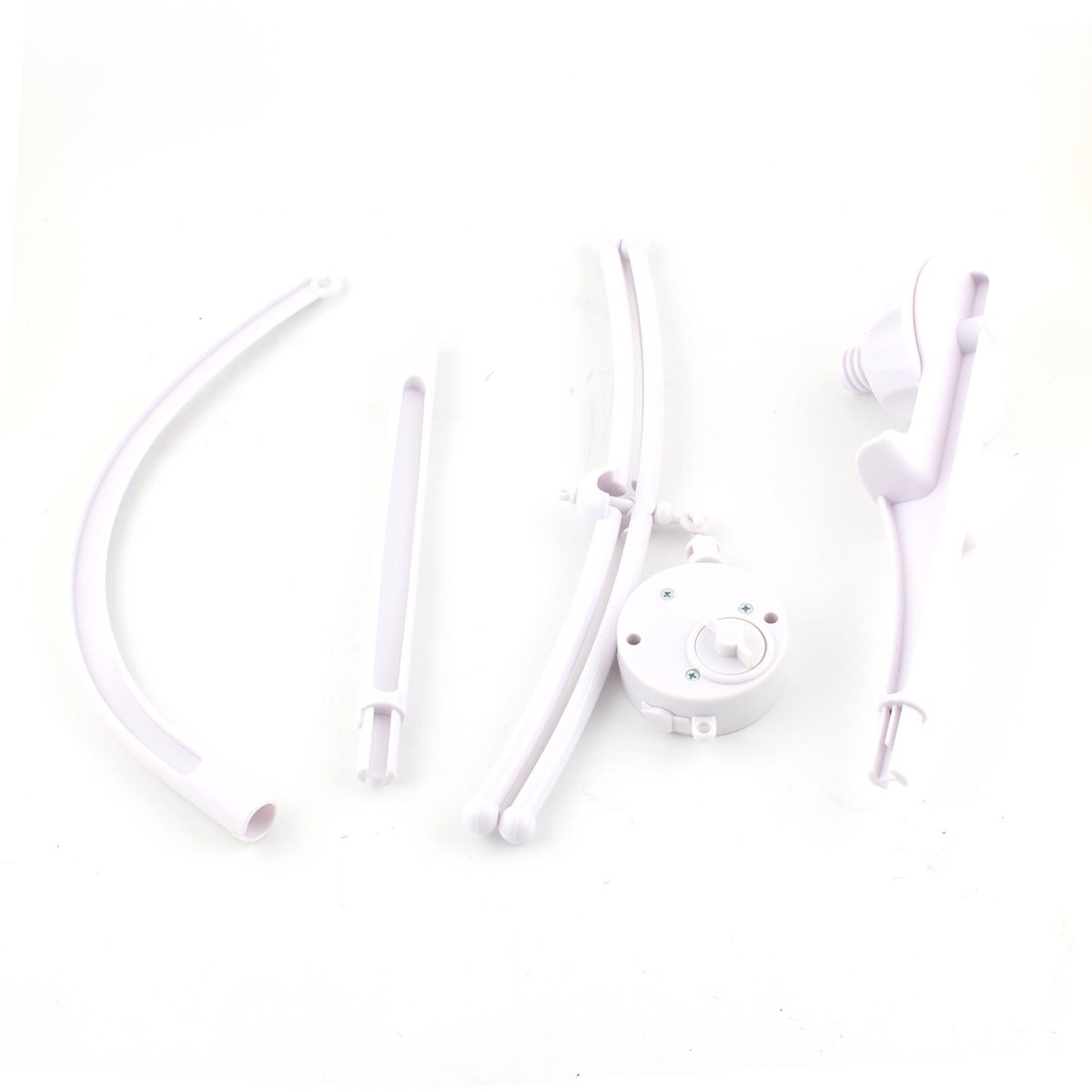 luoem Crib Cot Mobile Coat Babies Mobile Bed Bell Arm Bracket Stand with wind-up Music Box Toy