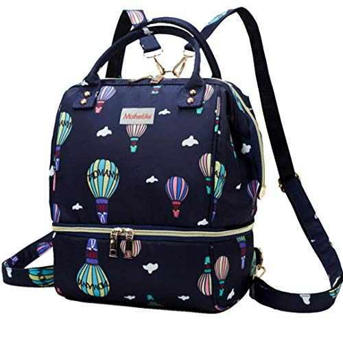 MotherLike Baby Mini Diaper Bag for Mothers for Travel    Balloon Small, Blue