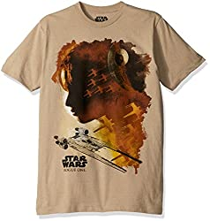 Star Wars Men's Rogue One Rogue Water Colors T-Shirt, Khaki Heather, XX-Large