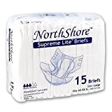 NorthShore Supreme Lite Briefs, Large, Pack/15