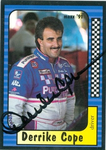 Autograph Warehouse 41155 Derrike Cope Autographed Trading Card Auto Racing Maxx 1991 No. 10 from Autograph Warehouse