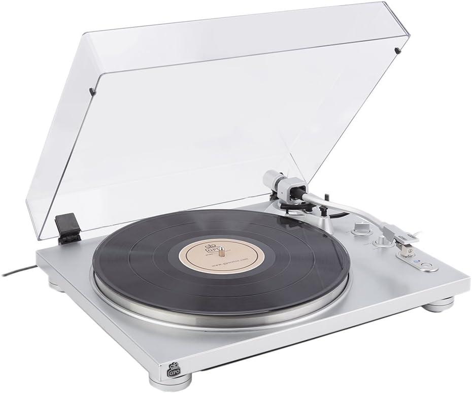 GPO Retro PR 100 Plata - Tocadiscos (Plata, 33,45 RPM, 420 mm, 320 ...